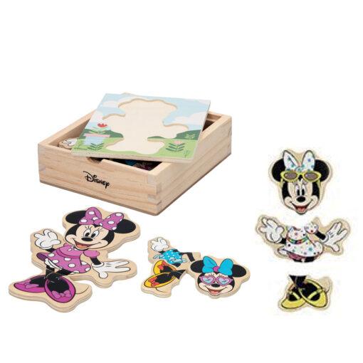 Puzzles madera trajes Minnie JU48724