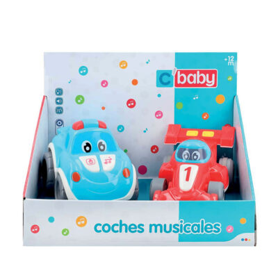 Set 2 coches bebe musicales JU49233